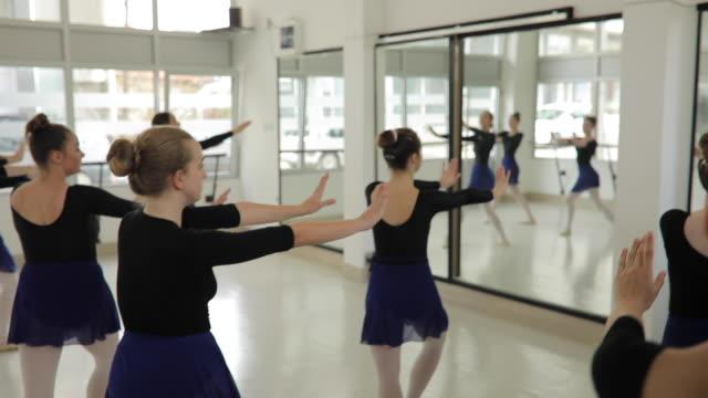 ballet dancers together in studio - ballet studio stock videos & royalty-free footage