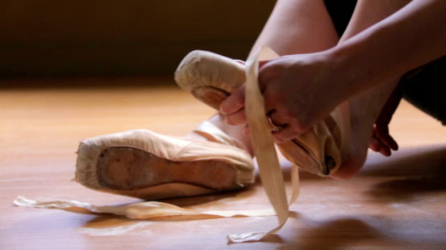ballet dancing - ballet shoe stock videos and b-roll footage