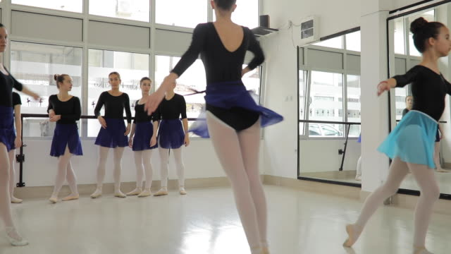 ballet girls dancing together - small stock videos & royalty-free footage