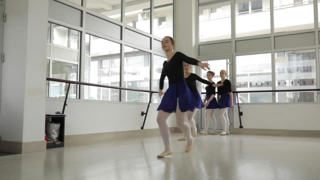 ballet girls exercising together - small stock videos & royalty-free footage