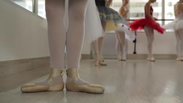 ballet girls exercising together - ballet studio stock videos & royalty-free footage