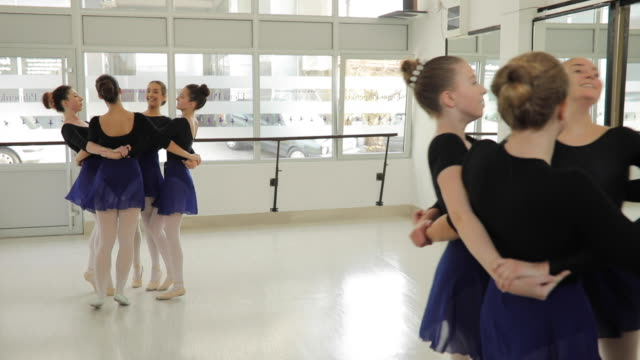 ballet girls spinning - collant video stock e b–roll