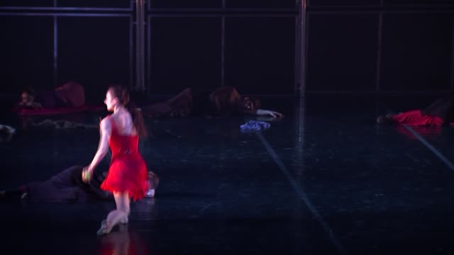 'her name is carmen' ballerina irina kolesnikova interview england london london coliseum int **music heard** ballerina irina kolesnikova dancing on... - london coliseum stock videos and b-roll footage