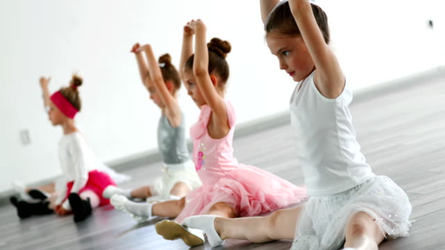 ballet practice. - doing the splits stock videos & royalty-free footage