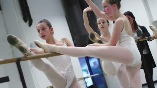 ballet school - barre stock videos and b-roll footage