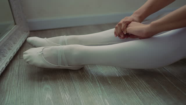 ballet shoe - ballet shoe stock videos & royalty-free footage