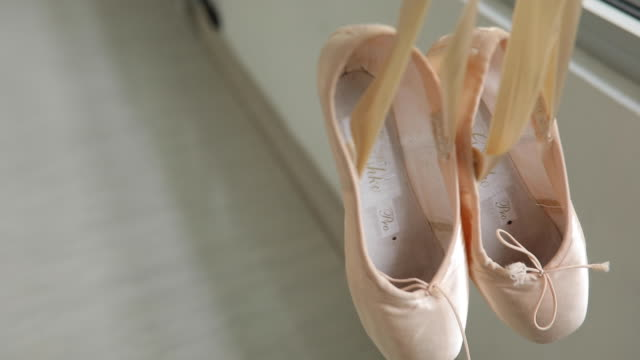 ballet shoes hanging - pair stock videos & royalty-free footage