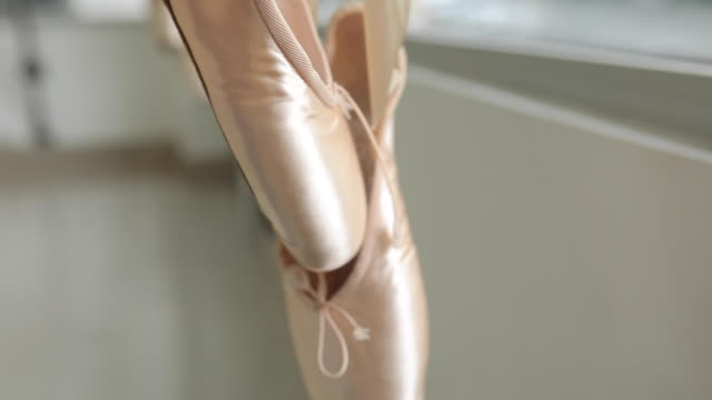 ballet shoes - en pointe stock videos and b-roll footage
