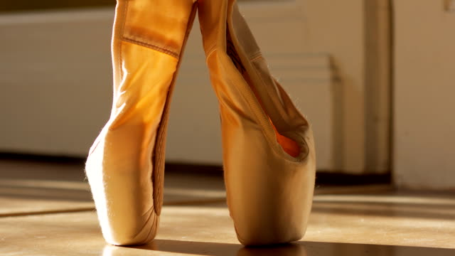 ballet  slippers - ballet shoe stock videos and b-roll footage