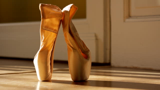 ballet  slippers - ballet shoe stock videos & royalty-free footage