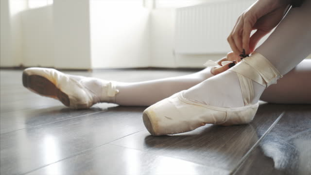 ballet slippers. - ballet shoe stock videos and b-roll footage