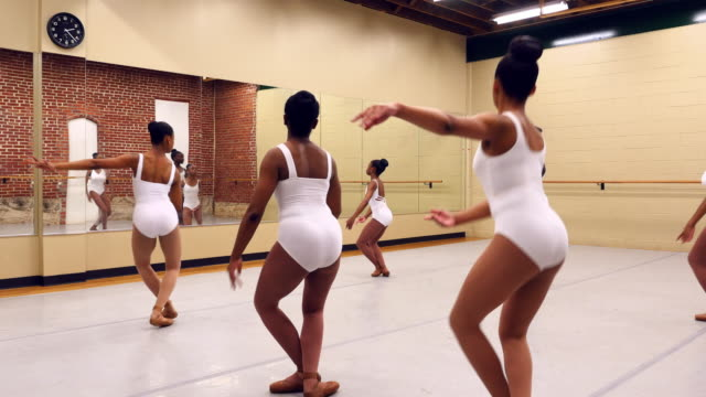 MS Ballet students in rehearsal in dance studio