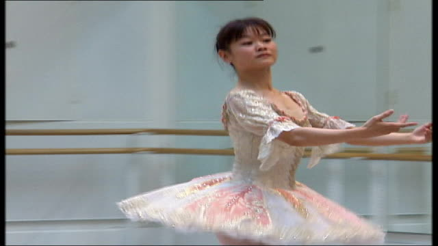 'the nutcracker' at the royal opera house ballerina and male ballet dancer dancing in rehearsal studio - the nutcracker named work stock videos & royalty-free footage