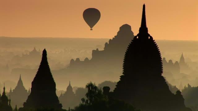 Balloon flying in Bagan, Myanmar