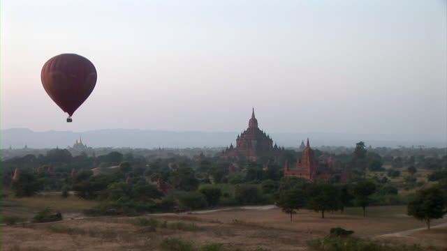 Balloon flying in Bagan, Myanmar