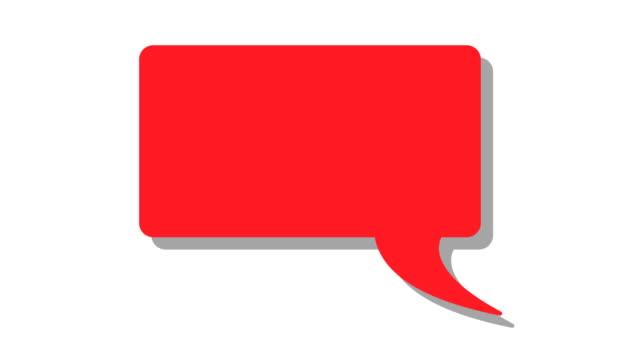 vídeos de stock, filmes e b-roll de balão mensagem bolhas de cotação - speech