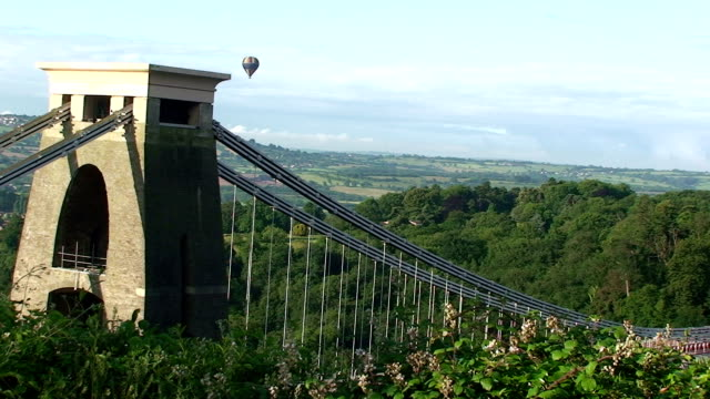 balloon - clifton suspension bridge stock videos and b-roll footage