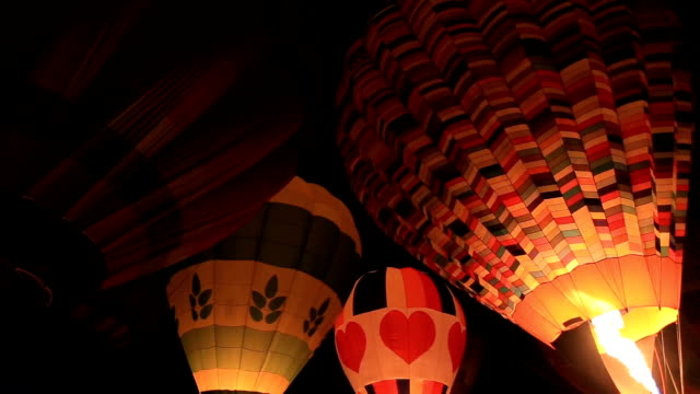 Balloons festival in the night time