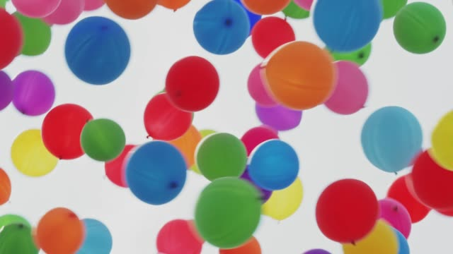 balloons flying into the sky - anniversary stock videos & royalty-free footage
