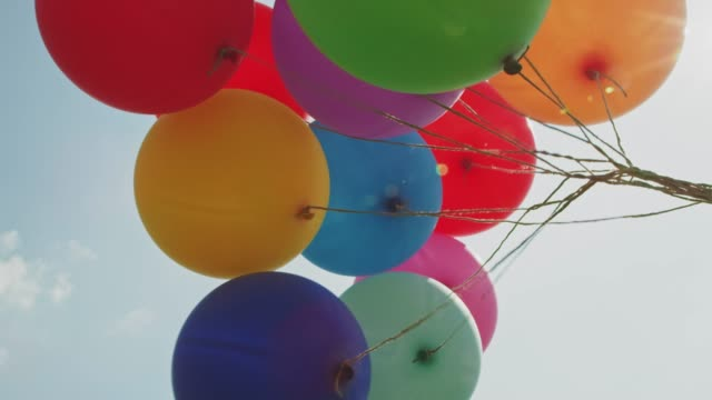 balloons on strings - anniversary stock videos & royalty-free footage