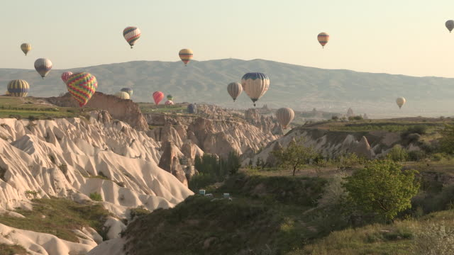 Balloons Over a Canyon, Cappadocia, Turkey