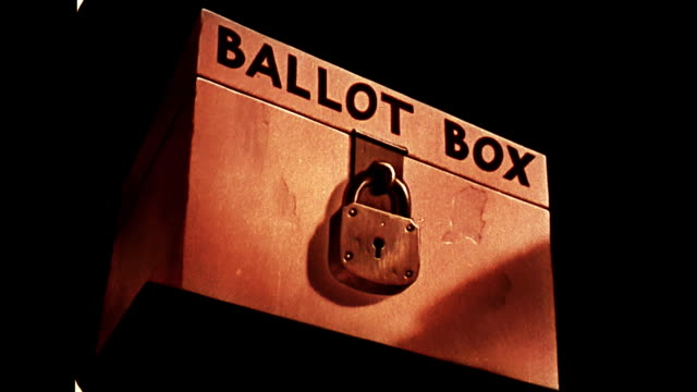 stockvideo's en b-roll-footage met ballot box and the right to vote - stembus