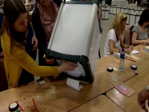 ballot forms being counted in ireland referendum on eu fiscal pact - form stock videos and b-roll footage