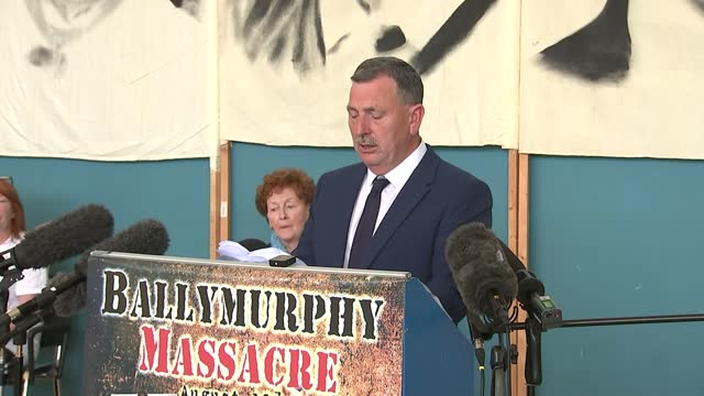 families press conference; press conference part 1 of 8 northern ireland: belfast: int john teggart entering press conference and along to podium /... - news not politics stock videos & royalty-free footage