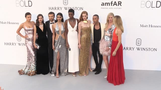 Balmain Designer Olivier Rousteing and Alexina Graham at on the red carpet at the amfAR Gala during the Cannes Film Festival 2017 Thursday 25 May...