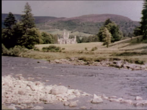 1953 balmoral castle - royalty stock videos & royalty-free footage