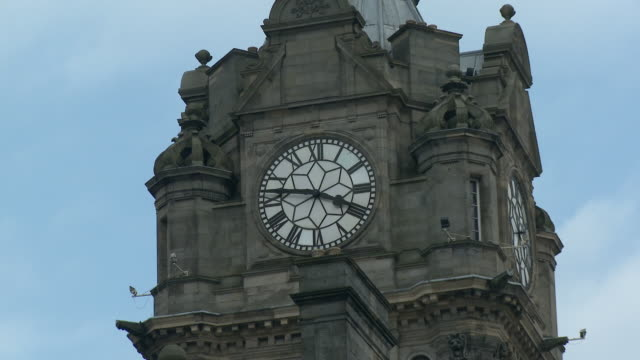 cu, zo balmoral hotel, scotland, united kingdom - roman numeral stock videos & royalty-free footage