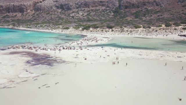 balos beach and tourists - bahamas stock videos & royalty-free footage