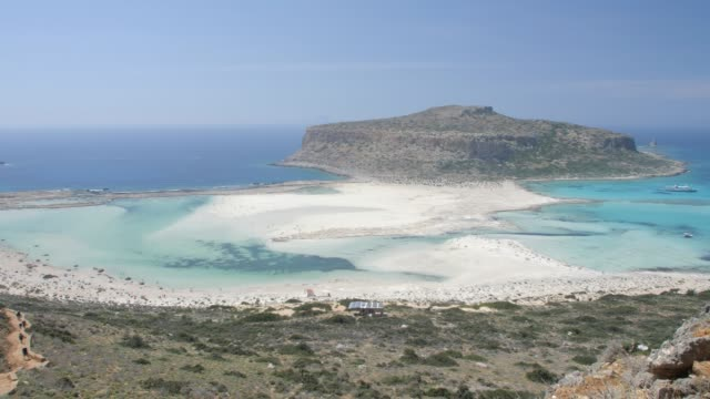 vídeos y material grabado en eventos de stock de balos beach, gramvoussa peninsula, balos bay, gramvousa peninsula, crete, greek islands, greece, europe - península
