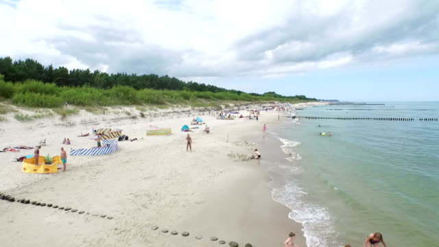 baltic beach on hel peninsula - peninsula stock videos and b-roll footage
