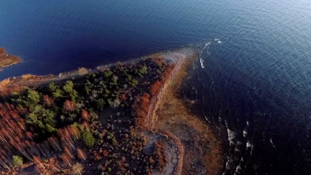 baltic sea aerial view - finlandia video stock e b–roll
