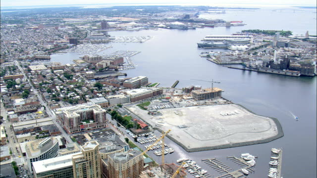 Baltimore Harbour  - Aerial View - Maryland, City of Baltimore, United States