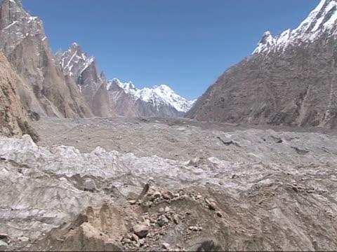 baltoro glacier valley, himalayas - steep hill stock videos & royalty-free footage