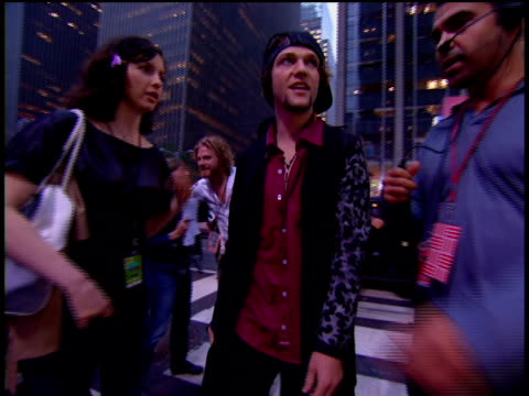 bam margera is attending the 2002 mtv video music awards red carpet. - 2002 stock videos & royalty-free footage