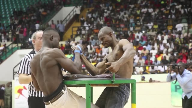 bamako hosted its first international arm wrestling competition on sunday - arm wrestling stock videos & royalty-free footage