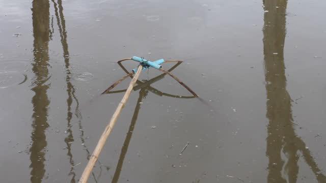 Bambus für Fischernetze.