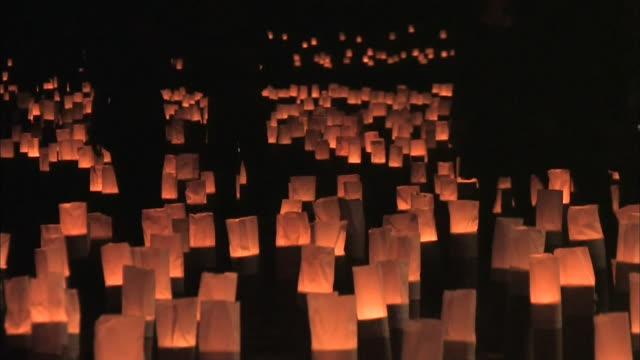 Bamboo Lanterns For Japanese Festival