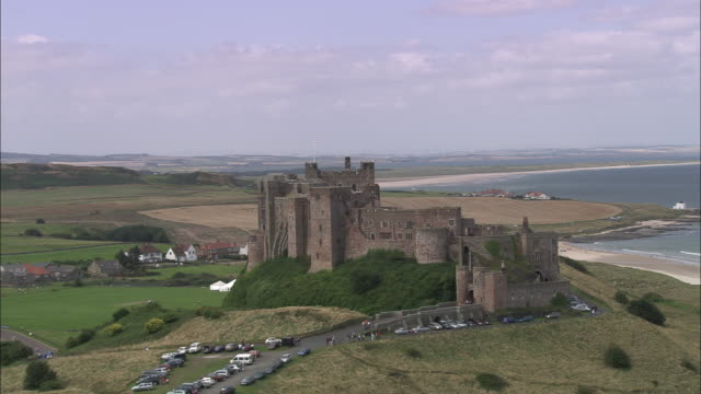 bamburgh castle - northumberland coast stock videos & royalty-free footage