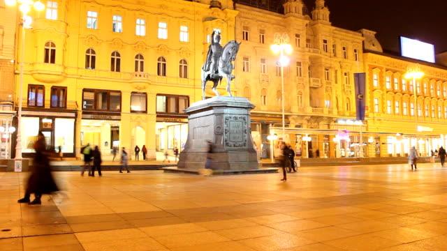 vidéos et rushes de du ban jelačić (trg élé gant jelacica - ligne de tramway