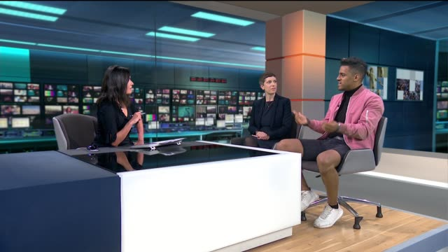 ban on adverts which reinforce negative gender stereotypes comes into force england london gir int jessica tye and christopher kenna live studio... - gender stereotypes stock videos & royalty-free footage
