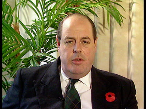 ban on gay people in the armed forces upheld; f) nao: england: london: int nicholas soames mp 2 way interview from crawley sot - upholding of ban on... - ダーモット・マーナハン点の映像素材/bロール