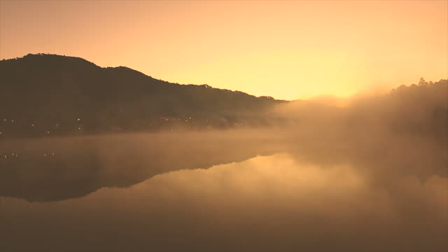 ban rak thai chinese village in mae hong son thailand - dusk stock videos & royalty-free footage
