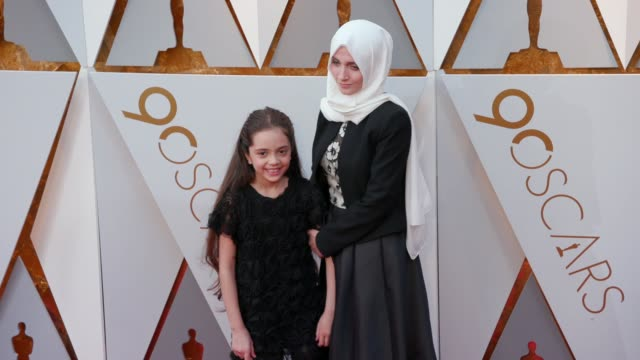 bana alabed at the 90th academy awards - arrivals at dolby theatre on march 04, 2018 in hollywood, california. - the dolby theatre stock videos & royalty-free footage