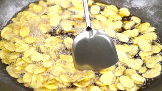 banana crisps - fried stock videos and b-roll footage
