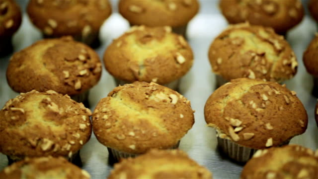 banana muffins with cashew - muffin stock videos and b-roll footage