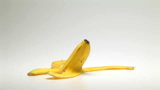 banana peel - peel plant part stock videos and b-roll footage